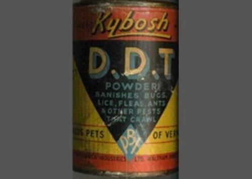 ДДТ (Дуст) эффективно использовался для уничтожения клопов