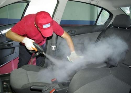 Обработка парогенератором автомобильных сидений